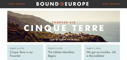 Bound for Europe: Main Page