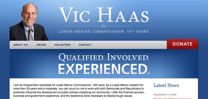 Vic Haas for Lower Merion Township Commissioner