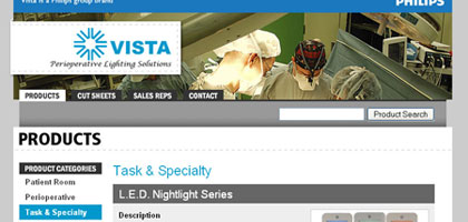 Vista Lighting: Product Page